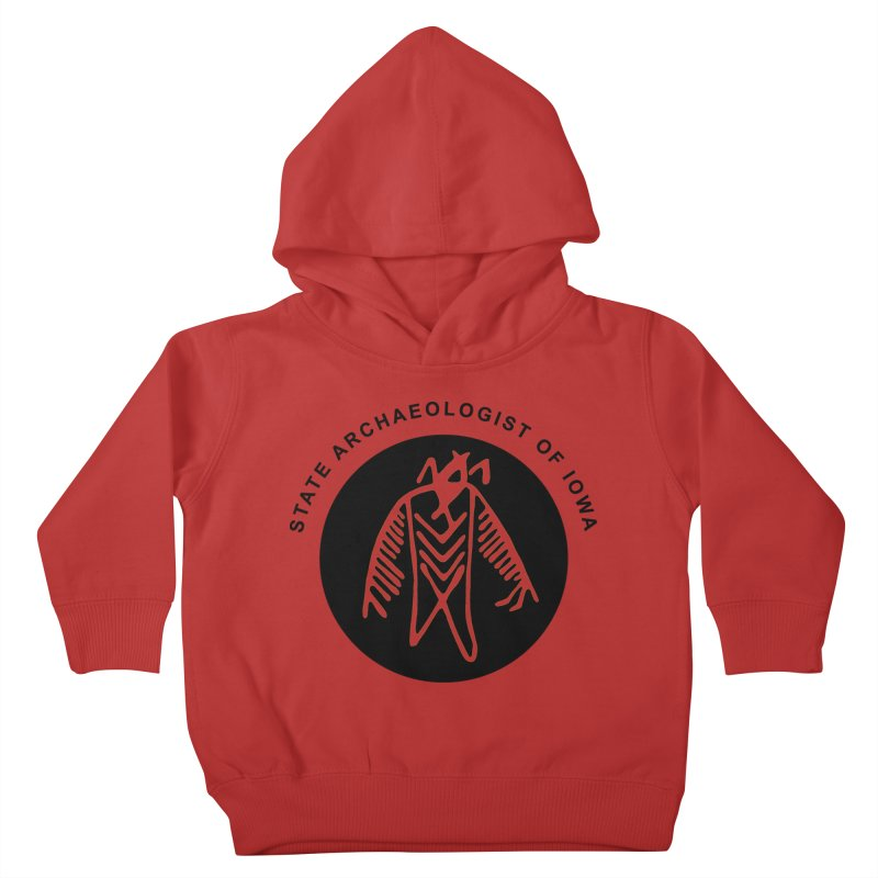 Office of the State Archaeologist Logo (Black) Kids Toddler Pullover Hoody by Iowa Archaeology Gifts, Prints, & Apparel
