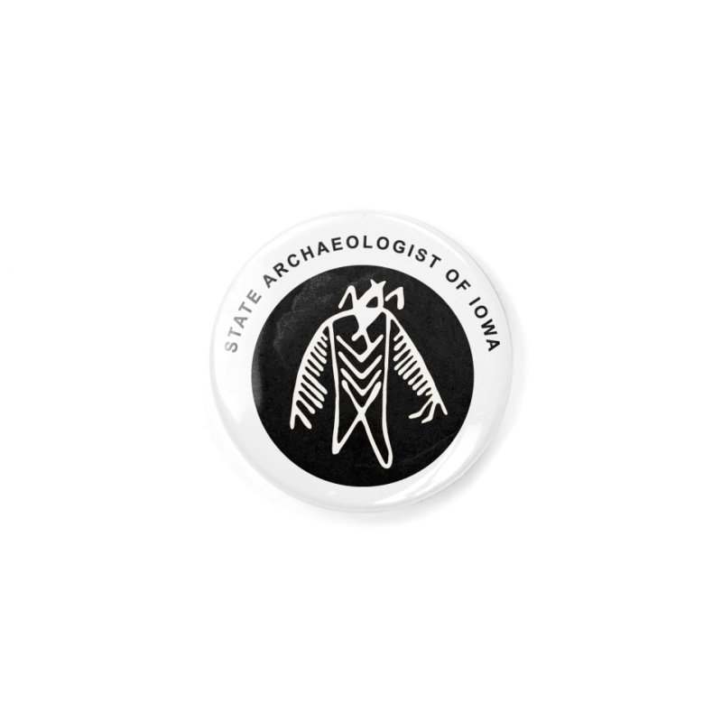 Office of the State Archaeologist Logo (Black) Accessories Button by Iowa Archaeology Gifts, Prints, & Apparel