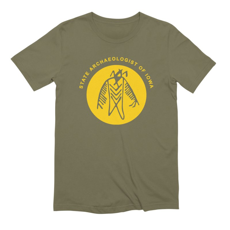 Office of the State Archaeologist Logo (Gold) Men's Extra Soft T-Shirt by Iowa Archaeology Gifts, Prints, & Apparel