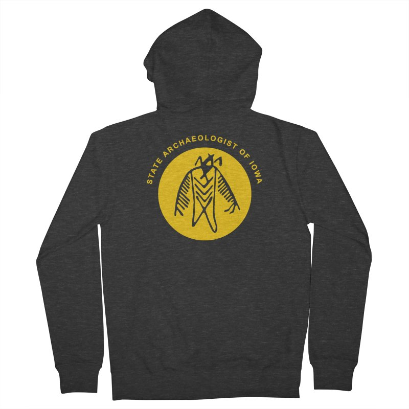 Office of the State Archaeologist Logo (Gold) Men's French Terry Zip-Up Hoody by Iowa Archaeology Gifts, Prints, & Apparel