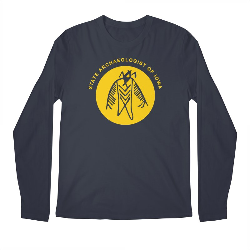 Office of the State Archaeologist Logo (Gold) Men's Regular Longsleeve T-Shirt by Iowa Archaeology Gifts, Prints, & Apparel