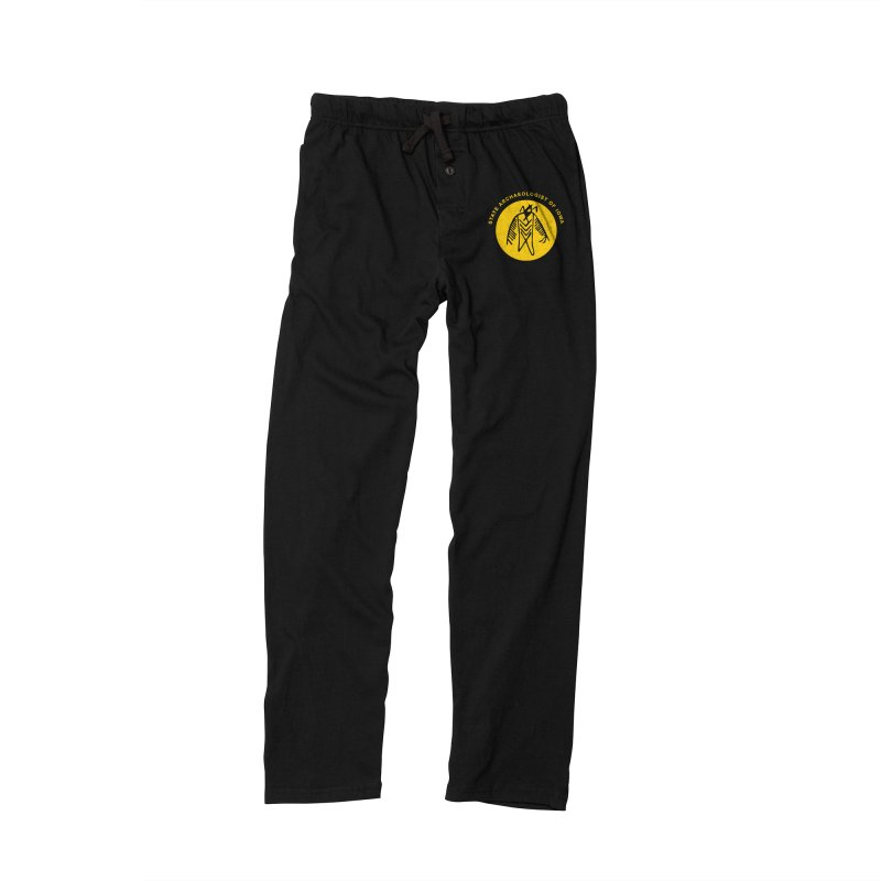 Office of the State Archaeologist Logo (Gold) Men's Lounge Pants by Iowa Archaeology Gifts, Prints, & Apparel