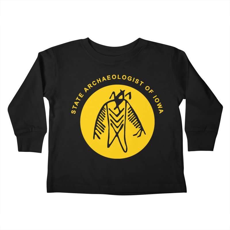 Office of the State Archaeologist Logo (Gold) Kids Toddler Longsleeve T-Shirt by Iowa Archaeology Gifts, Prints, & Apparel