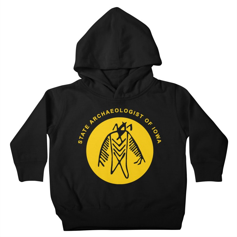 Office of the State Archaeologist Logo (Gold) Kids Toddler Pullover Hoody by Iowa Archaeology Gifts, Prints, & Apparel