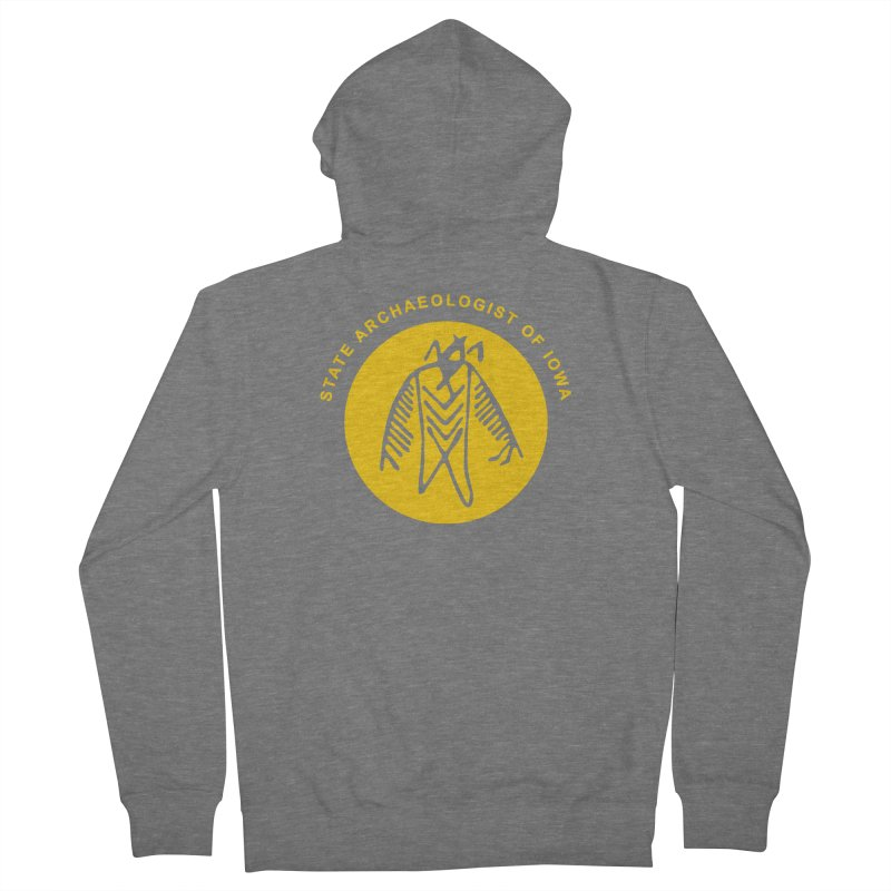 Office of the State Archaeologist Logo (Gold) Women's Zip-Up Hoody by Iowa Archaeology Gifts, Prints, & Apparel