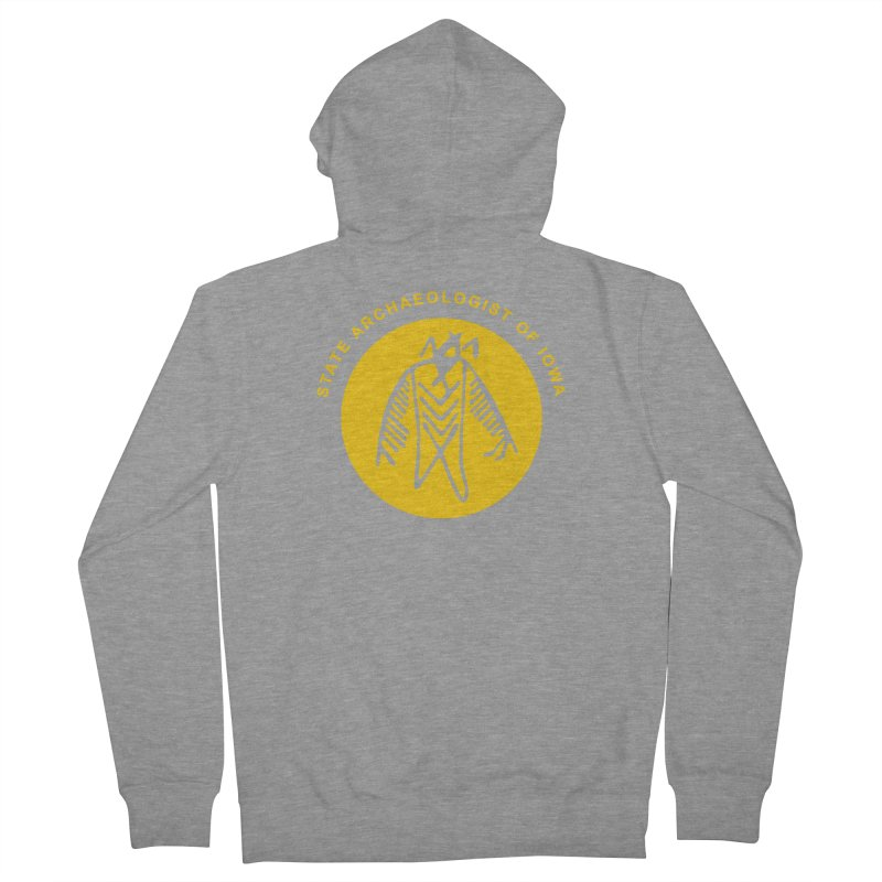 Office of the State Archaeologist Logo (Gold) Women's French Terry Zip-Up Hoody by Iowa Archaeology Gifts, Prints, & Apparel