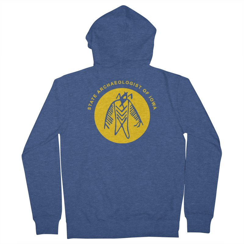 Office of the State Archaeologist Logo (Gold) Men's Zip-Up Hoody by Iowa Archaeology Gifts, Prints, & Apparel