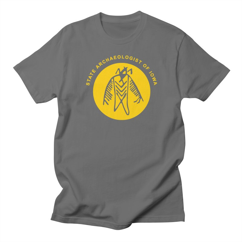 Office of the State Archaeologist Logo (Gold) Men's T-Shirt by Iowa Archaeology Gifts, Prints, & Apparel