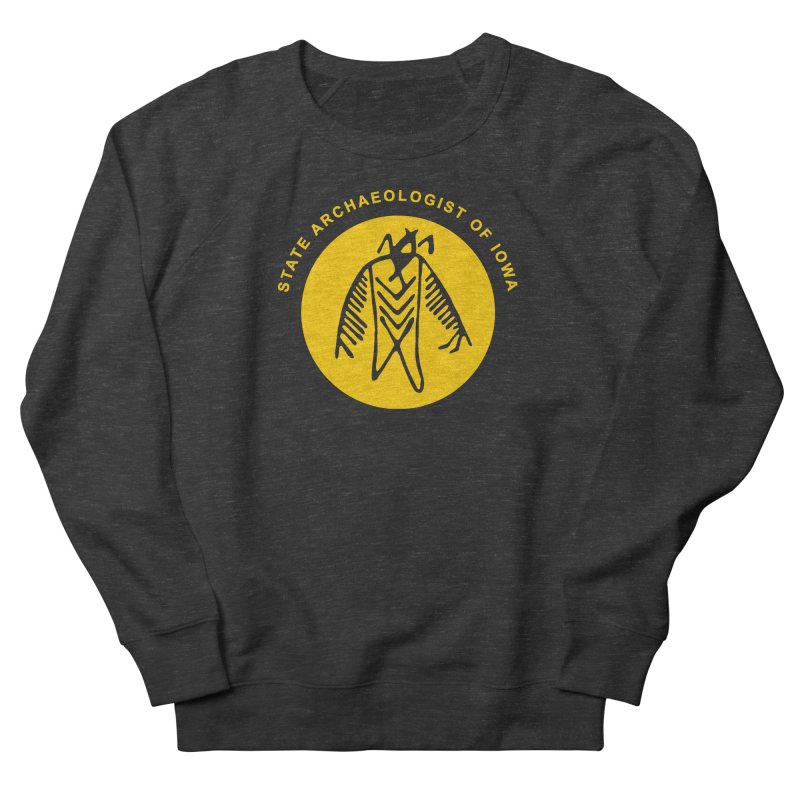 Office of the State Archaeologist Logo (Gold) Women's Sweatshirt by Iowa Archaeology Gifts, Prints, & Apparel