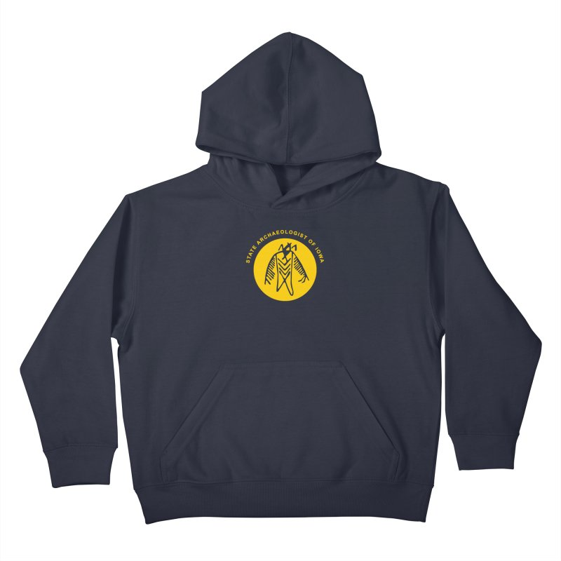 Office of the State Archaeologist Logo (Gold) Kids Pullover Hoody by Iowa Archaeology Gifts, Prints, & Apparel