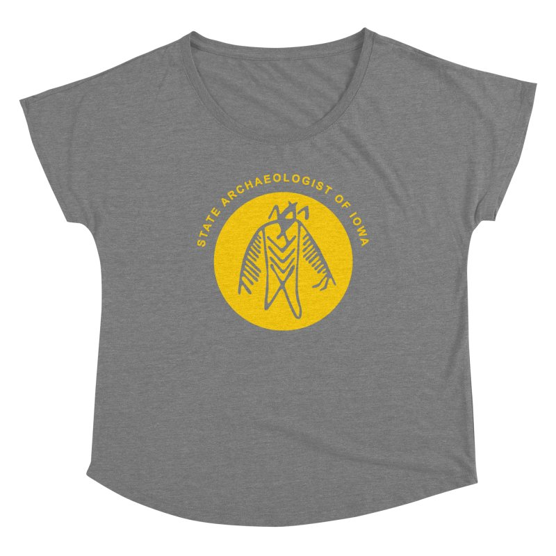 Office of the State Archaeologist Logo (Gold) Women's Scoop Neck by Iowa Archaeology Gifts, Prints, & Apparel