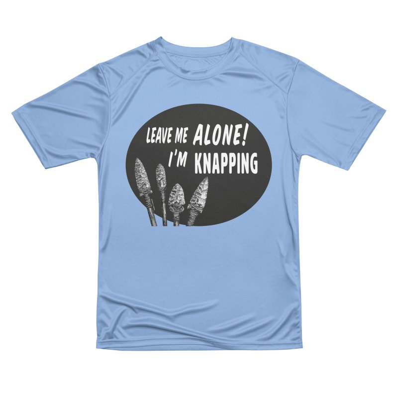 Leave Me Alone, I'm Knapping Men's T-Shirt by Iowa Archaeology Gifts, Prints, & Apparel