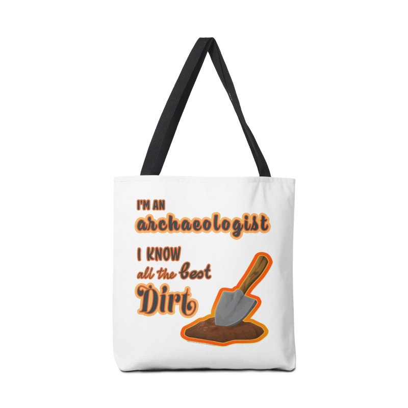 All the Best Dirt (Orange) Accessories Bag by Iowa Archaeology Gifts, Prints, & Apparel