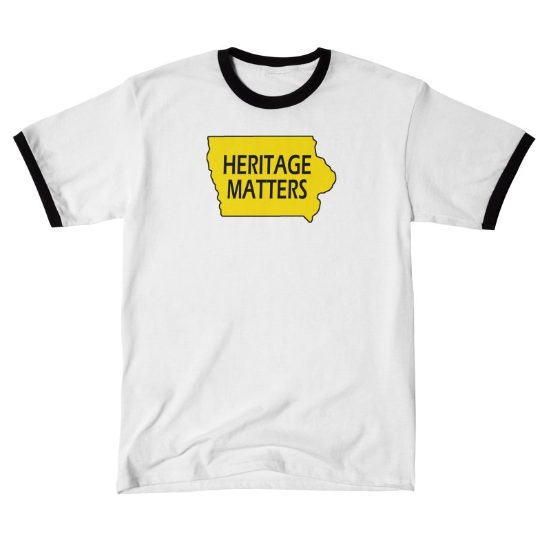 Heritage Matters (Iowa) Men's T-Shirt by Iowa Archaeology Gifts, Prints, & Apparel