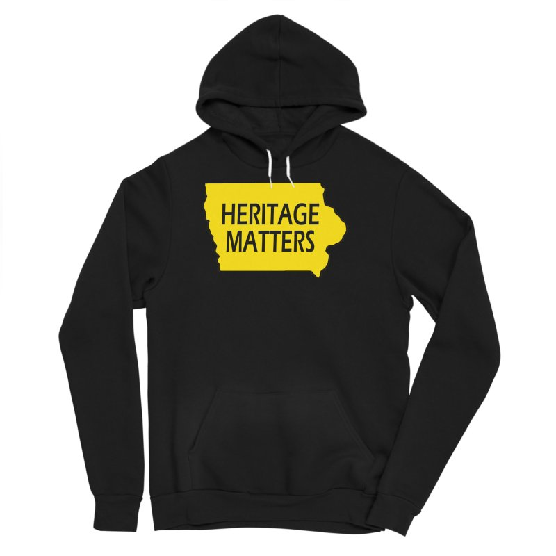 Heritage Matters (Iowa) Men's Sponge Fleece Pullover Hoody by Iowa Archaeology Gifts, Prints, & Apparel