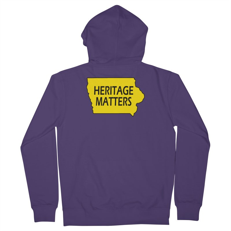 Heritage Matters (Iowa) Women's French Terry Zip-Up Hoody by Iowa Archaeology Gifts, Prints, & Apparel