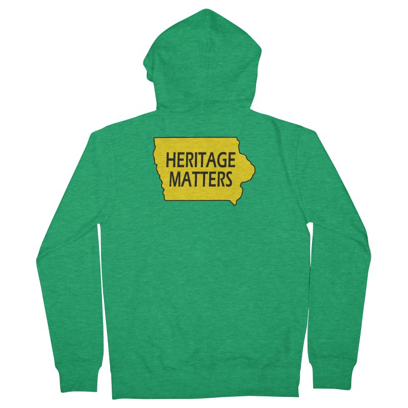Heritage Matters (Iowa) Men's Zip-Up Hoody by Iowa Archaeology Gifts, Prints, & Apparel