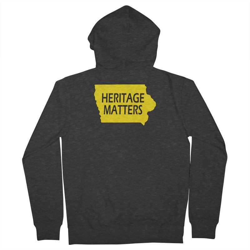 Heritage Matters (Iowa) Men's French Terry Zip-Up Hoody by Iowa Archaeology Gifts, Prints, & Apparel