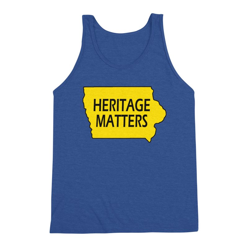 Heritage Matters (Iowa) Men's Tank by Iowa Archaeology Gifts, Prints, & Apparel