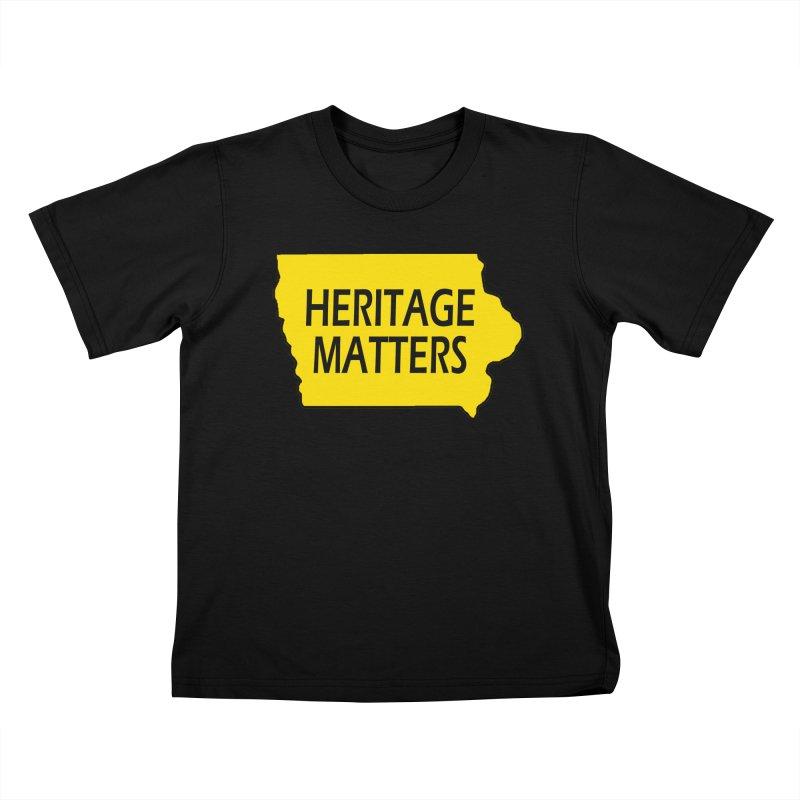 Heritage Matters (Iowa) Kids T-Shirt by Iowa Archaeology Gifts, Prints, & Apparel