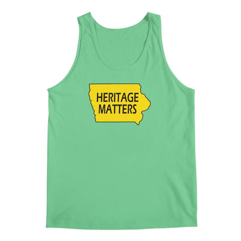 Heritage Matters (Iowa) Men's Regular Tank by Iowa Archaeology Gifts, Prints, & Apparel