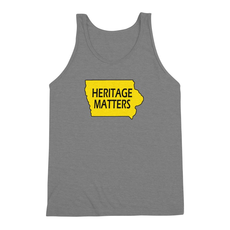 Heritage Matters (Iowa) Men's Triblend Tank by Iowa Archaeology Gifts, Prints, & Apparel