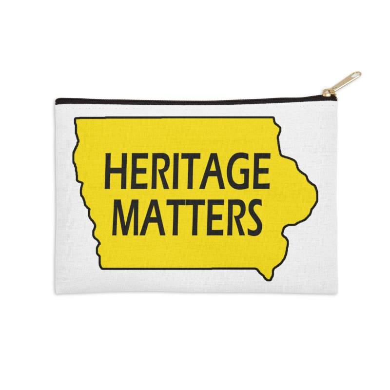 Heritage Matters (Iowa) Accessories Zip Pouch by Iowa Archaeology Gifts, Prints, & Apparel