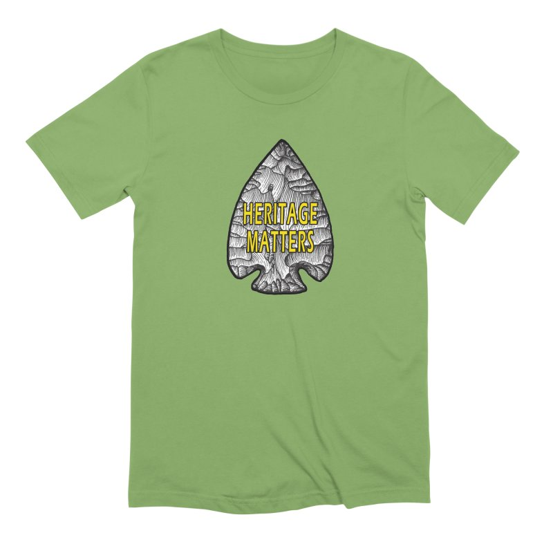 Heritage Matters Men's Extra Soft T-Shirt by Iowa Archaeology Gifts, Prints, & Apparel