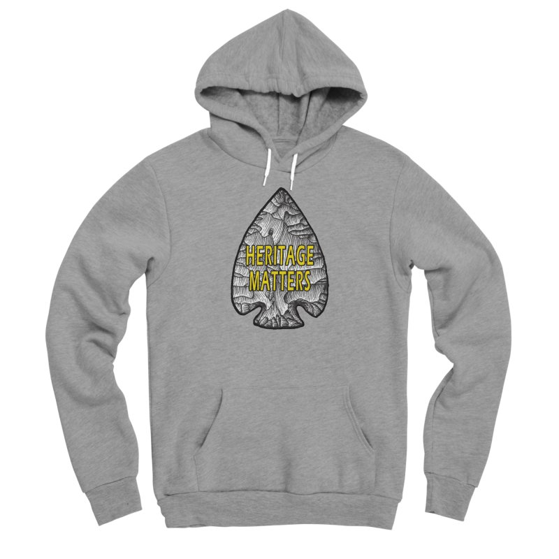 Heritage Matters Men's Sponge Fleece Pullover Hoody by Iowa Archaeology Gifts, Prints, & Apparel