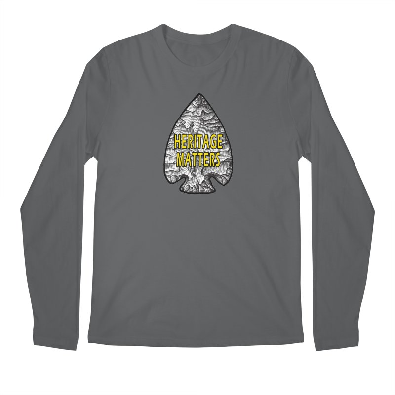 Heritage Matters Men's Regular Longsleeve T-Shirt by Iowa Archaeology Gifts, Prints, & Apparel