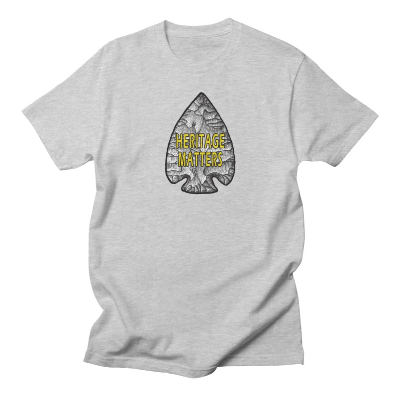 Heritage Matters Men's Regular T-Shirt by Iowa Archaeology Gifts, Prints, & Apparel