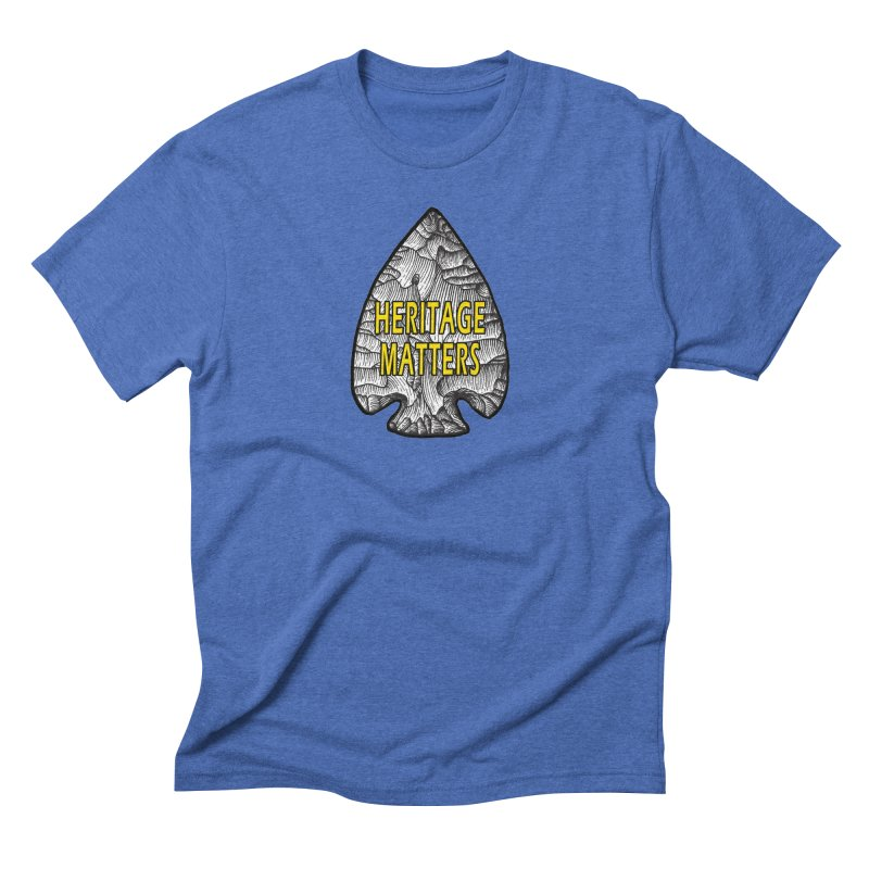 Heritage Matters Men's Triblend T-Shirt by Iowa Archaeology Gifts, Prints, & Apparel