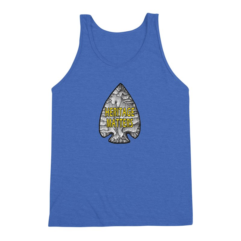 Heritage Matters Men's Triblend Tank by Iowa Archaeology Gifts, Prints, & Apparel