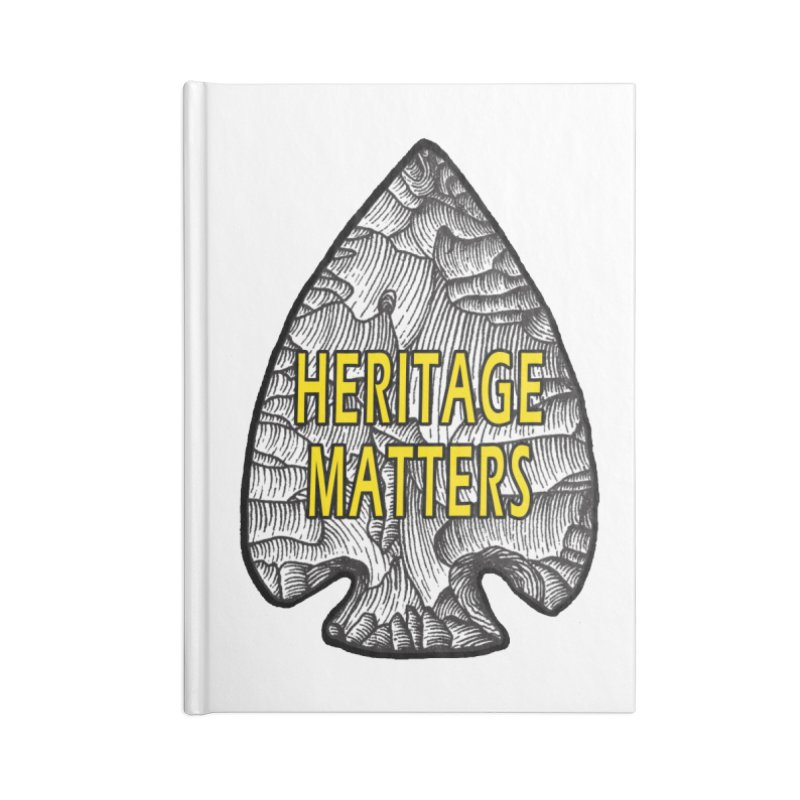 Heritage Matters Accessories Lined Journal Notebook by Iowa Archaeology Gifts, Prints, & Apparel