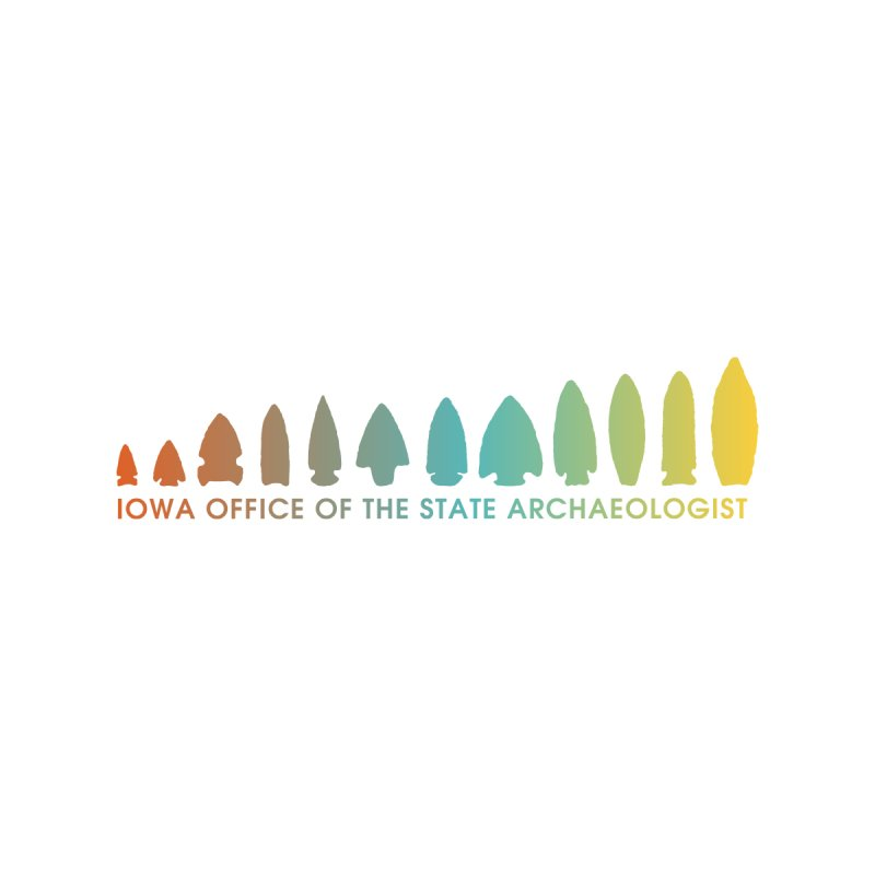 Iowa Projectile Points (Banner, Rainbow) Accessories Sticker by Iowa Archaeology Gifts, Prints, & Apparel