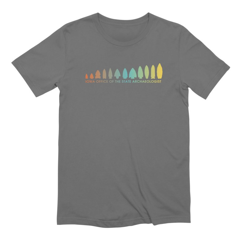 Iowa Projectile Points (Banner, Rainbow) Men's Extra Soft T-Shirt by Iowa Archaeology Gifts, Prints, & Apparel