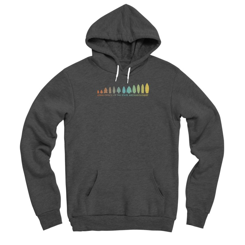 Iowa Projectile Points (Banner, Rainbow) Men's Pullover Hoody by Iowa Archaeology Gifts, Prints, & Apparel
