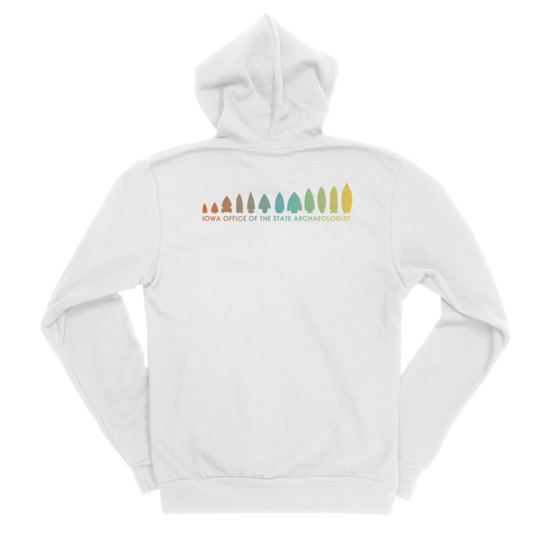 Iowa Projectile Points (Banner, Rainbow) Men's Zip-Up Hoody by Iowa Archaeology Gifts, Prints, & Apparel