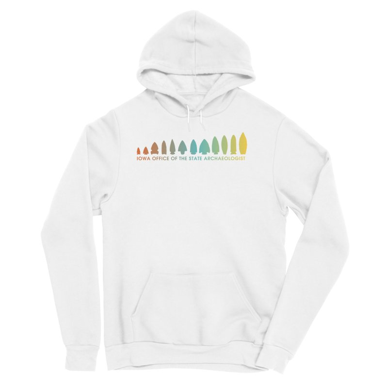 Iowa Projectile Points (Banner, Rainbow) Men's Sponge Fleece Pullover Hoody by Iowa Archaeology Gifts, Prints, & Apparel