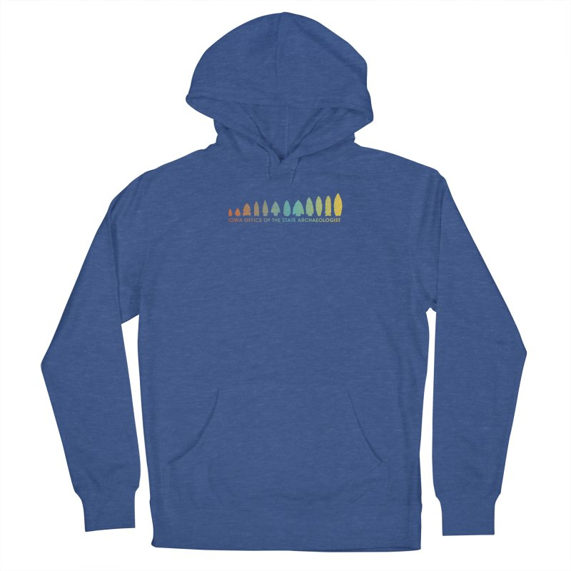 Iowa Projectile Points (Banner, Rainbow) Women's Pullover Hoody by Iowa Archaeology Gifts, Prints, & Apparel