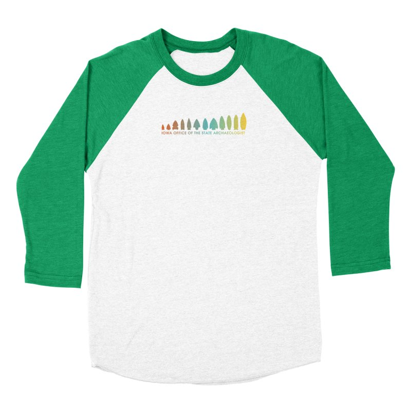 Iowa Projectile Points (Banner, Rainbow) Men's Longsleeve T-Shirt by Iowa Archaeology Gifts, Prints, & Apparel