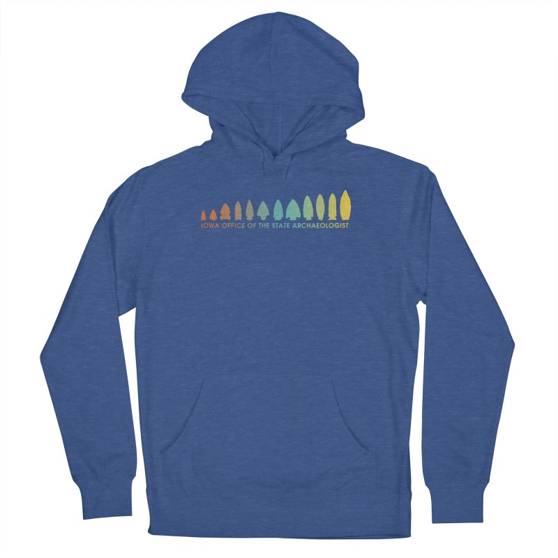 Iowa Projectile Points (Banner, Rainbow) Men's French Terry Pullover Hoody by Iowa Archaeology Gifts, Prints, & Apparel
