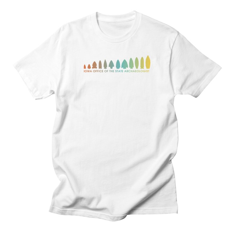 Iowa Projectile Points (Banner, Rainbow) Women's Regular Unisex T-Shirt by Iowa Archaeology Gifts, Prints, & Apparel