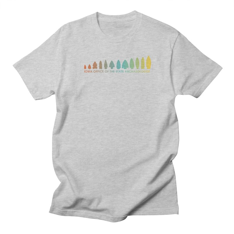 Iowa Projectile Points (Banner, Rainbow) Men's Regular T-Shirt by Iowa Archaeology Gifts, Prints, & Apparel
