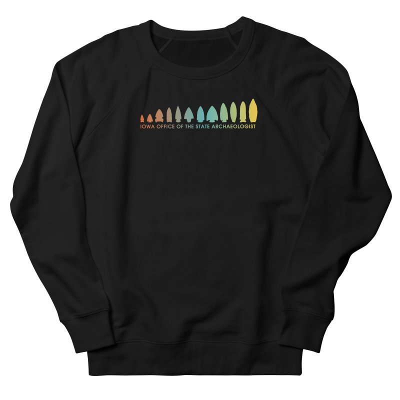 Iowa Projectile Points (Banner, Rainbow) Women's French Terry Sweatshirt by Iowa Archaeology Gifts, Prints, & Apparel