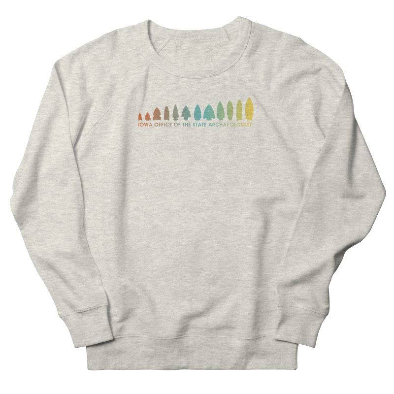 Iowa Projectile Points (Banner, Rainbow) Men's French Terry Sweatshirt by Iowa Archaeology Gifts, Prints, & Apparel