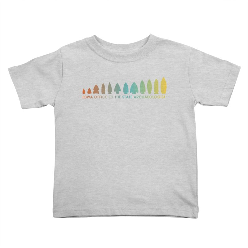 Iowa Projectile Points (Banner, Rainbow) Kids Toddler T-Shirt by Iowa Archaeology Gifts, Prints, & Apparel