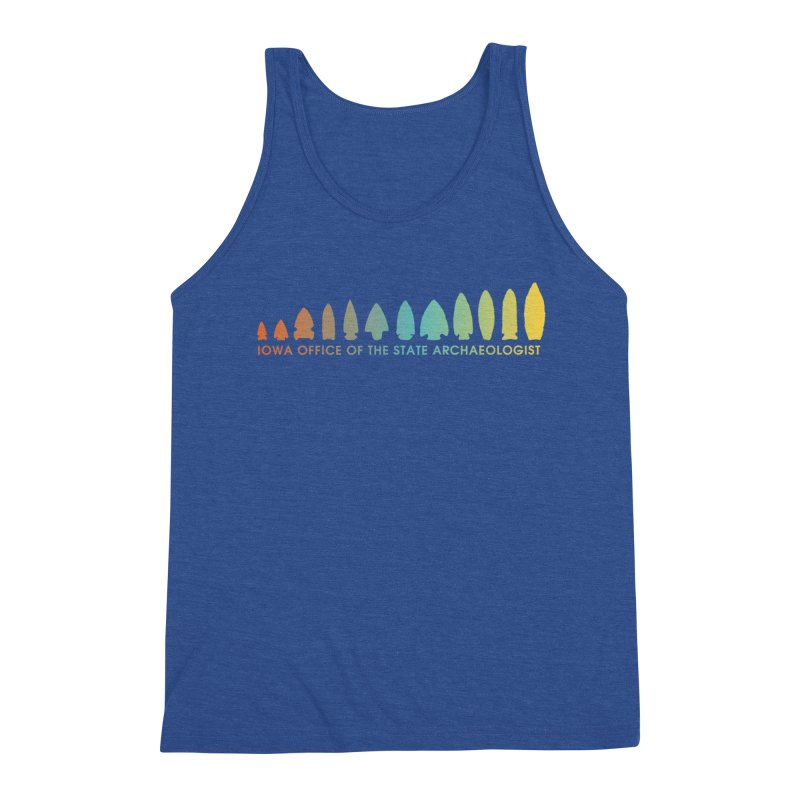 Iowa Projectile Points (Banner, Rainbow) Men's Tank by Iowa Archaeology Gifts, Prints, & Apparel
