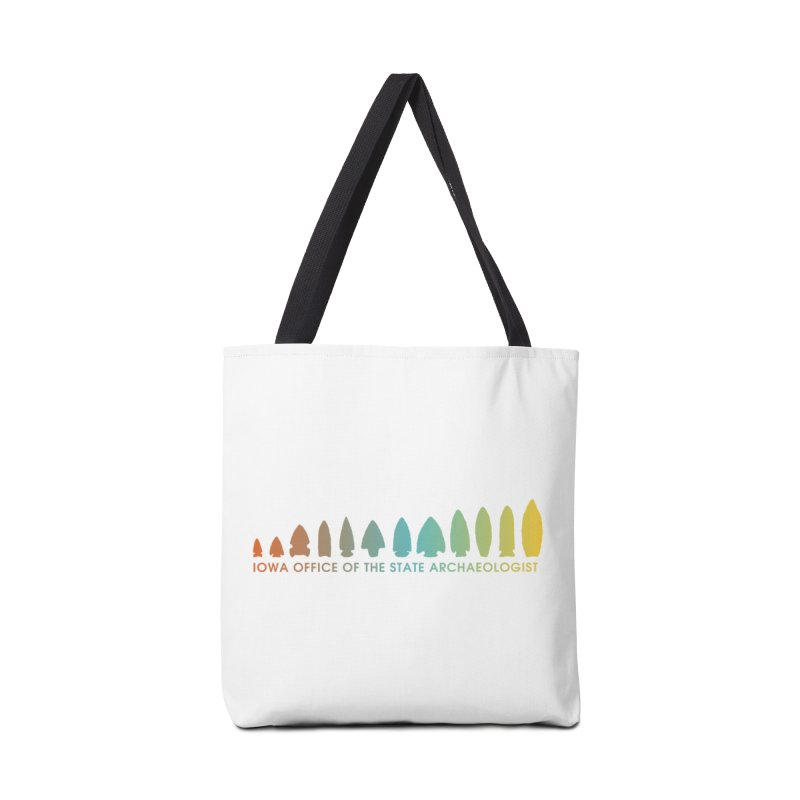Iowa Projectile Points (Banner, Rainbow) Accessories Bag by Iowa Archaeology Gifts, Prints, & Apparel