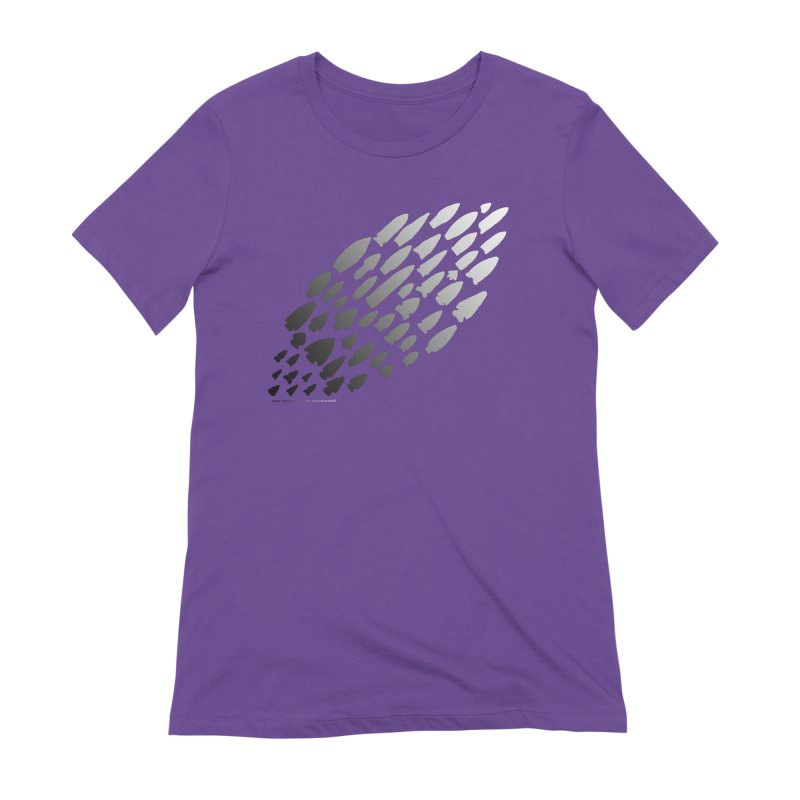Iowa Projectile Points (B/W) Women's Extra Soft T-Shirt by Iowa Archaeology Gifts, Prints, & Apparel